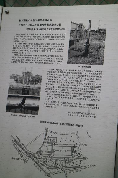 取水口跡地の説明