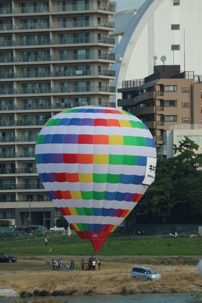 兵庫島公園であげられていた気球