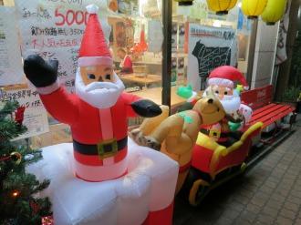 店頭のクリスマス装飾