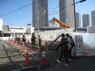 武蔵小杉駅南口地区西街区の工事領域拡大部分