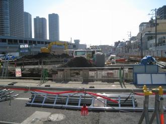 整地作業が進む武蔵小杉駅南口地区西街区