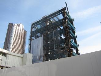 武蔵小杉駅南口地区西街区の鉄骨