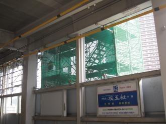 東急武蔵小杉駅ビル建設工事の階段