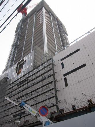 工事が進むエクラスタワー武蔵小杉