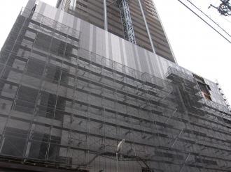 商業棟の外壁