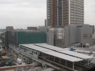 建設が進む東急武蔵小杉駅ビル