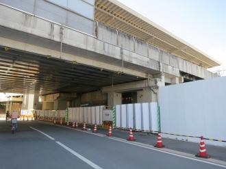 東急武蔵小杉駅ビルの駐輪場予定地(高架下)