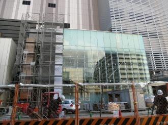北側のガラス張り部分
