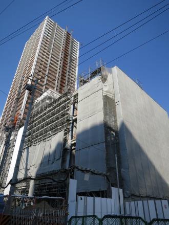 西街区・エクラスタワー武蔵小杉全景(南東側から)