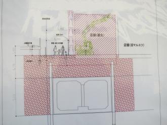 地下を走る武蔵野南線(断面図)