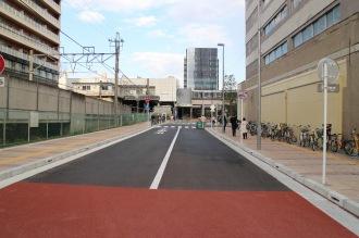 旧マルエツ北側の都市計画道路