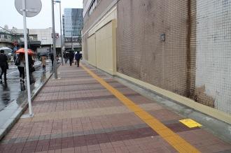 放置自転車撤去後の都市計画道路