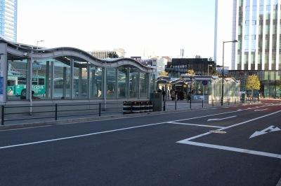 東街区・武蔵小杉駅東口駅前広場の従来からのガードパイプ設置区間