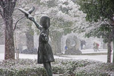 雪の日の中原住吉公園