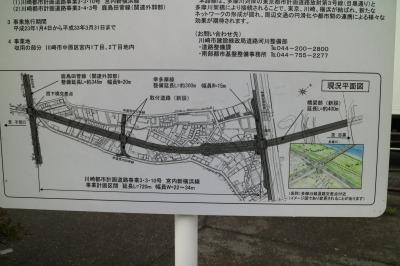 宮内新横浜線延伸と等々力大橋の平面図