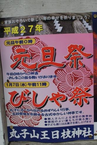 丸子山王日枝神社の元旦祭・びしゃ祭