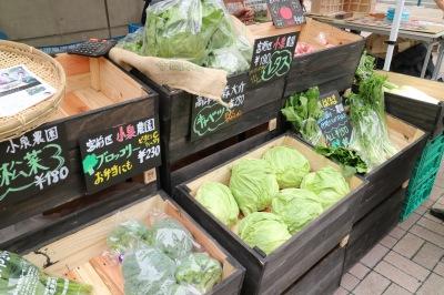 「カワサキノサキ」チームによる川崎野菜販売