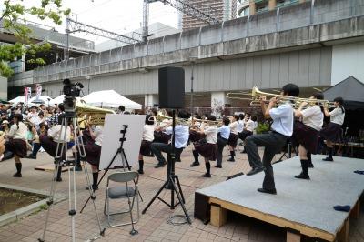 サプライズ参加の大西学園吹奏楽部