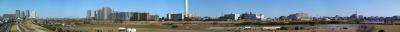 歩道橋からのパノラマ画像
