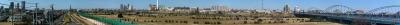 「多摩川交流センター」屋上からのパノラマ