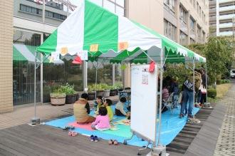 「川崎パパ塾」のテント