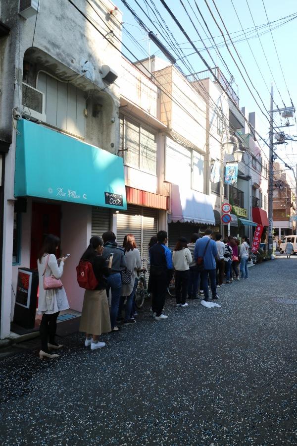 開店時の行列