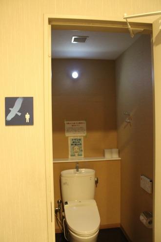 「防災対応トイレ」のLED電灯の点灯