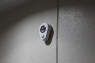 「防災備蓄スペース」のLED電灯
