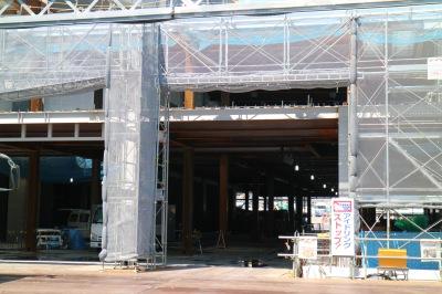 コンベンションセンター部分の鉄骨