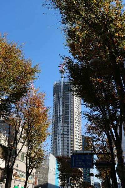 建設が進むパークシティ武蔵小杉 ザ ガーデン