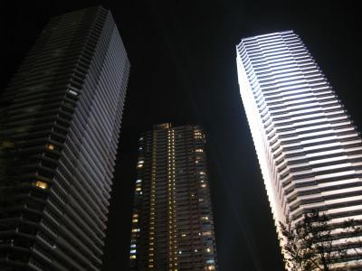 リエトコート武蔵小杉THE CLASSY TOWERのライトアップ