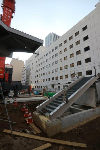 ホテル・ザ・エルシィ跡地側の階段