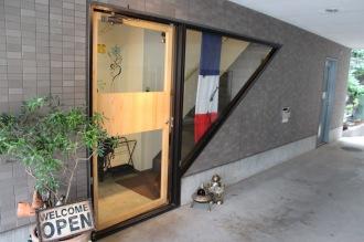 「Cafe Patiste」への入口