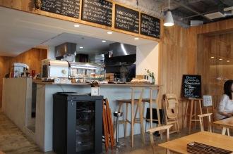 「Cafe Patiste」の店内