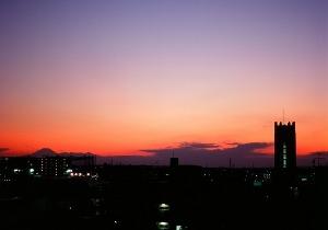 「時計台と富士山」 安田 和隆さん