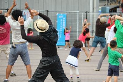 引き続き毎週日曜日に開催される「コアパークdeラジオ体操」