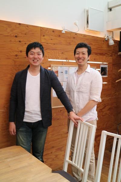 「+Care Project」の西智弘さん、芋川祐樹さん
