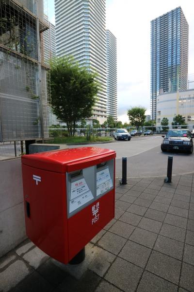 武蔵小杉新駅前ロータリーに新設された郵便ポスト