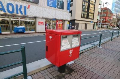 こすぎコアパーク前の郵便ポスト