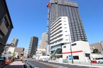 拡幅が進む府中街道と「Prima SK武蔵小杉」
