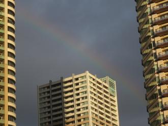 エクラスタワー武蔵小杉と虹