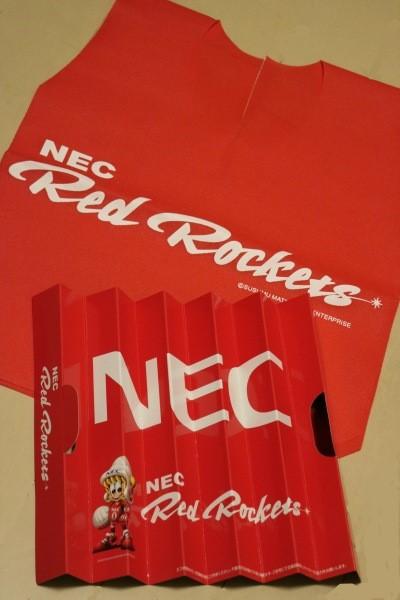 NECレッドロケッツの応援グッズ