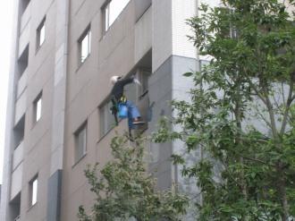レジデンス・ザ・武蔵小杉の窓掃除