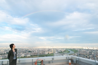 2013年6月22日、ミッドスカイタワーから見えた虹