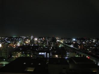 関東労災病院の病棟から、元住吉方面の夜景