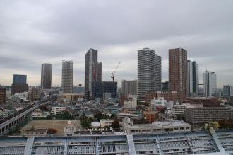 ヘリポートから見た武蔵小杉の高層ビル群