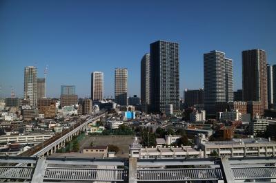 ヘリポートから見る武蔵小杉のタワーマンション