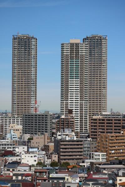 パークシティ武蔵小杉ザガーデンとプラウドタワー武蔵小杉