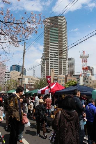 渋川前の出店