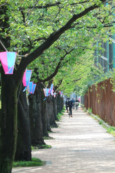 提灯の残る平和公園